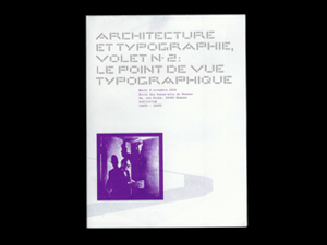 Architecture & Typographie — Le point de vue typographique