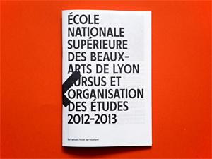 ENSBA — cursus et organisation des études 2012-2013