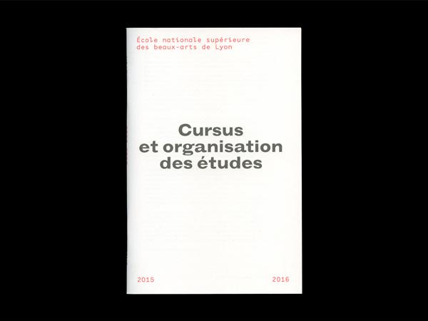 ENSBA — Cursus et organisation des études 2015–2016